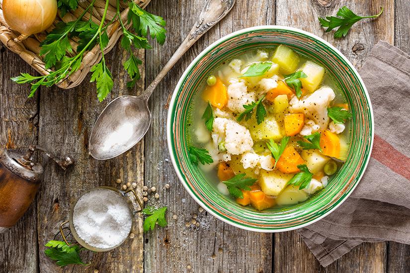 Regim alimentar guta cu supa de legume
