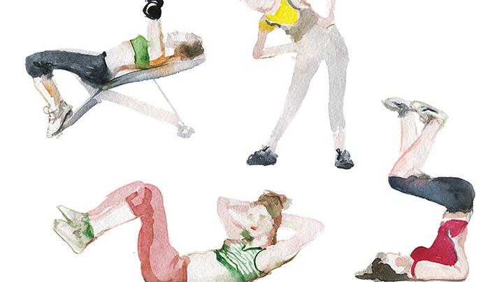 exerciții de la osteochondroza și varicoză)