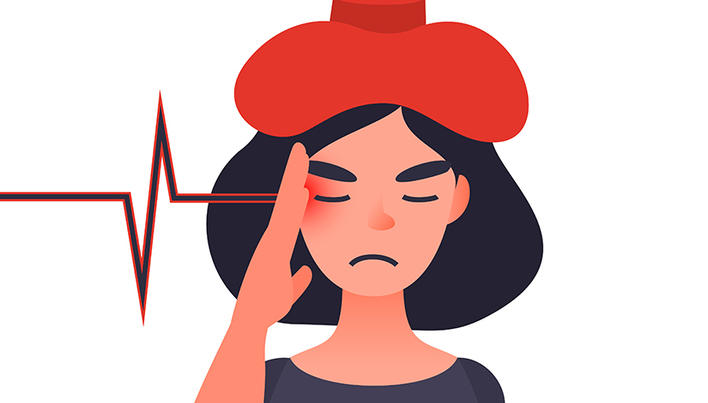 agravarea problemelor de vedere ale capului